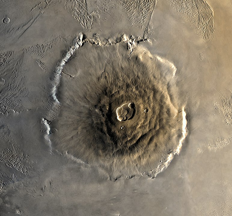 Olympus Mons as seen from space