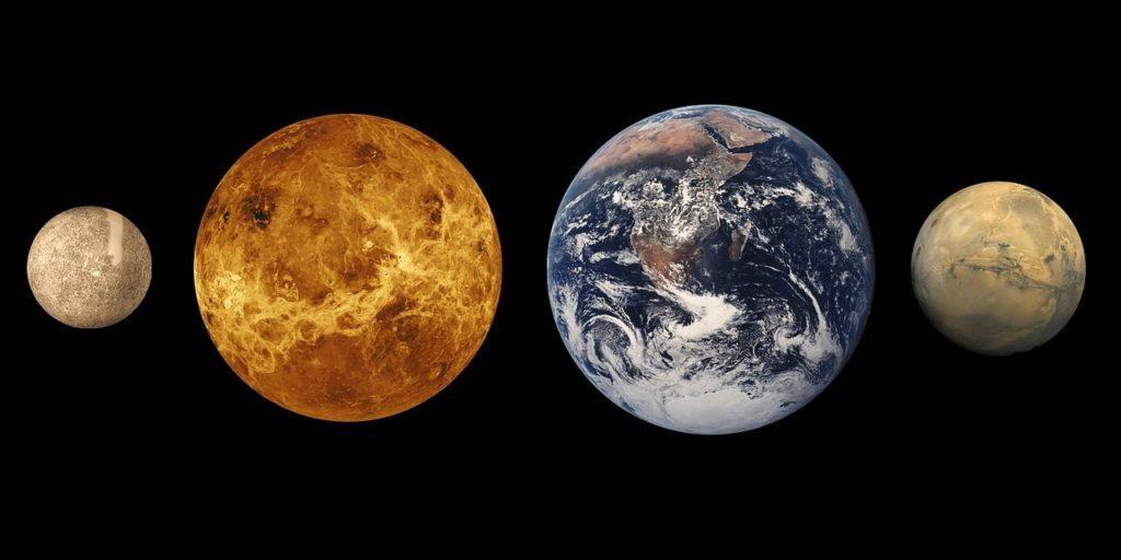 mercury venus earth and mars