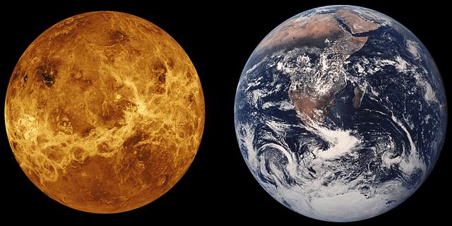 comparison on Venus and Earth
