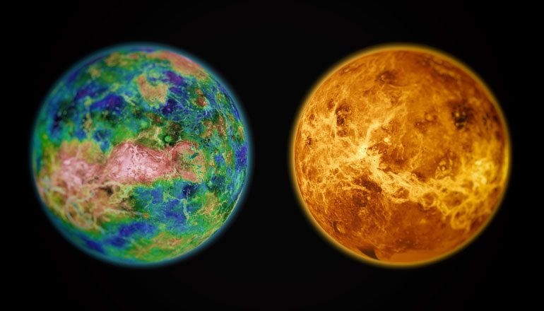 Venus as a paradise versus now