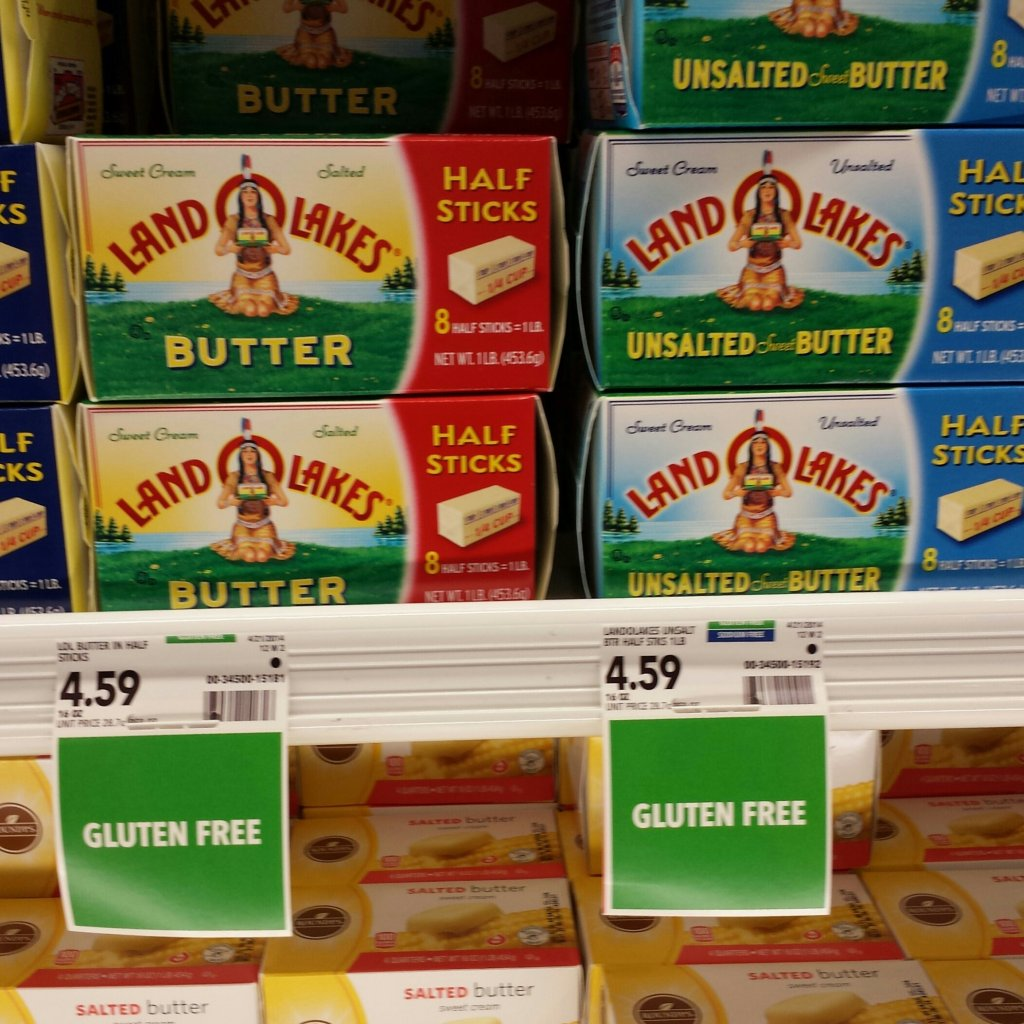 gluten free butter deceptive food labels