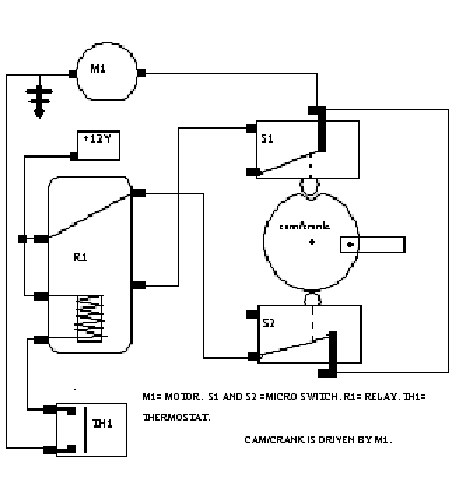 Reversing DC Motor with Relay and a Limit Switch