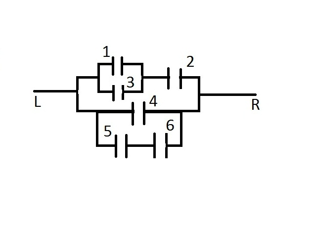 What is the probability that current flows from L to R for