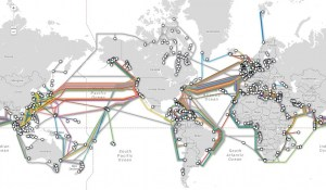 Undersea Cables String Together the Global Inter