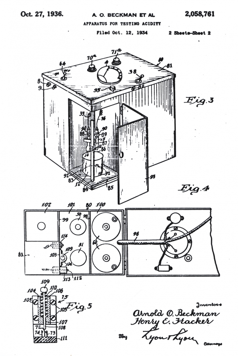 labelled diagram of ph meter ford 4 2 firing order well labeled wiring schematics arnold o beckman science history institute rh sciencehistory org milwaukee