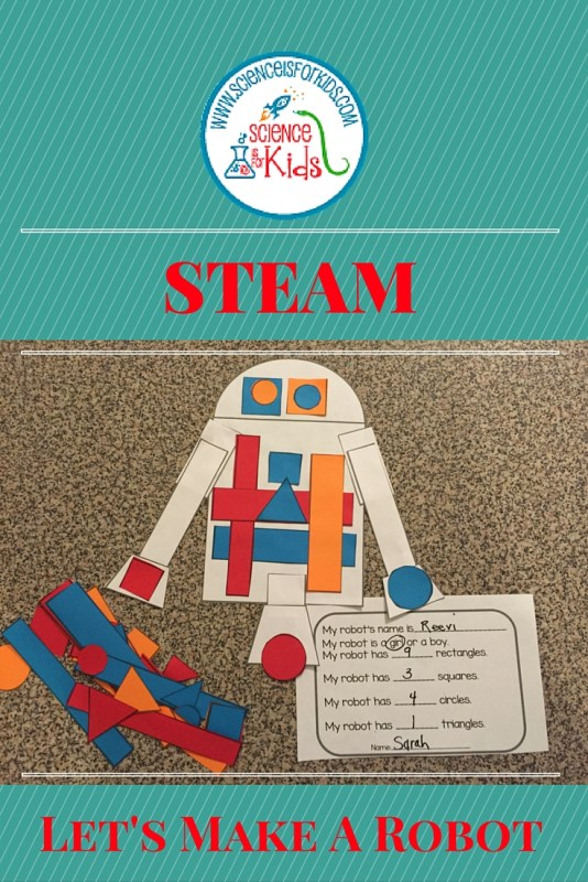STEAM robots math activity