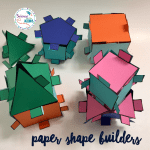 Paper Shape Builders Cut, Paste and Build STEM Activity