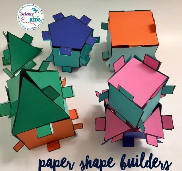 Paper Shape Builders Cut, Paste and Build STEM Activity