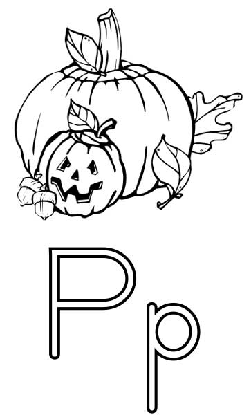 the letter p  coloring page for kids  free printable picture