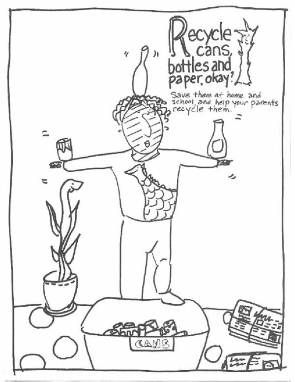 recycle coloring pages # 12