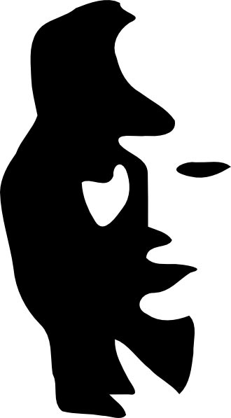 Does this optical illusion show a man playing a saxophone or a woman's face? You be the judge.