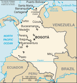 Colombia Map with Cities Free Pictures of Country Maps