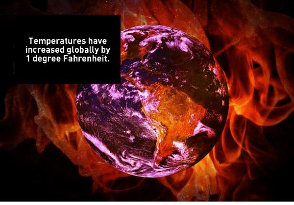 Global warming: Temperature increase