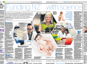 Two-page spread in today's New Zealand Herald