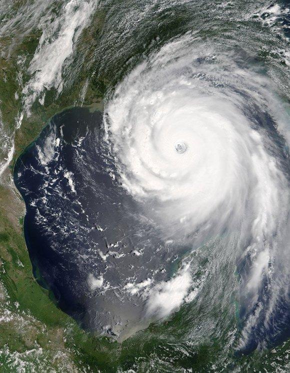 NASA satellite photo of Hurricane Katrina, 2005