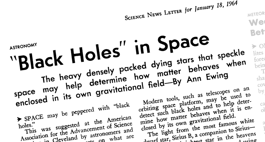 50 years later, it's hard to say who named black holes