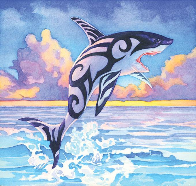 illustration de partage de baleine