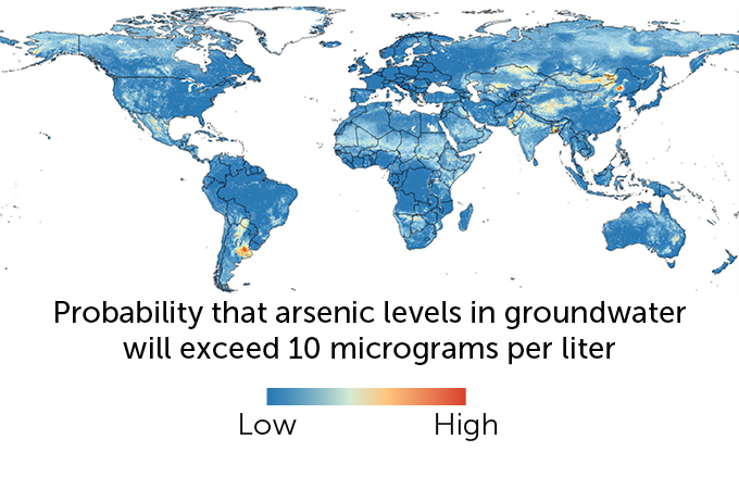 Global map of arsenic contamination