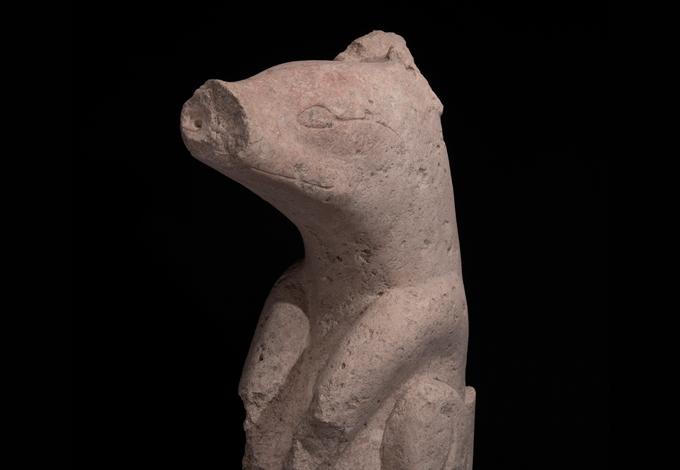Maya animal sculpture