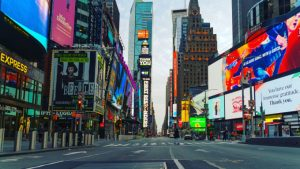 New York City's Times Square empty due to COVID-19