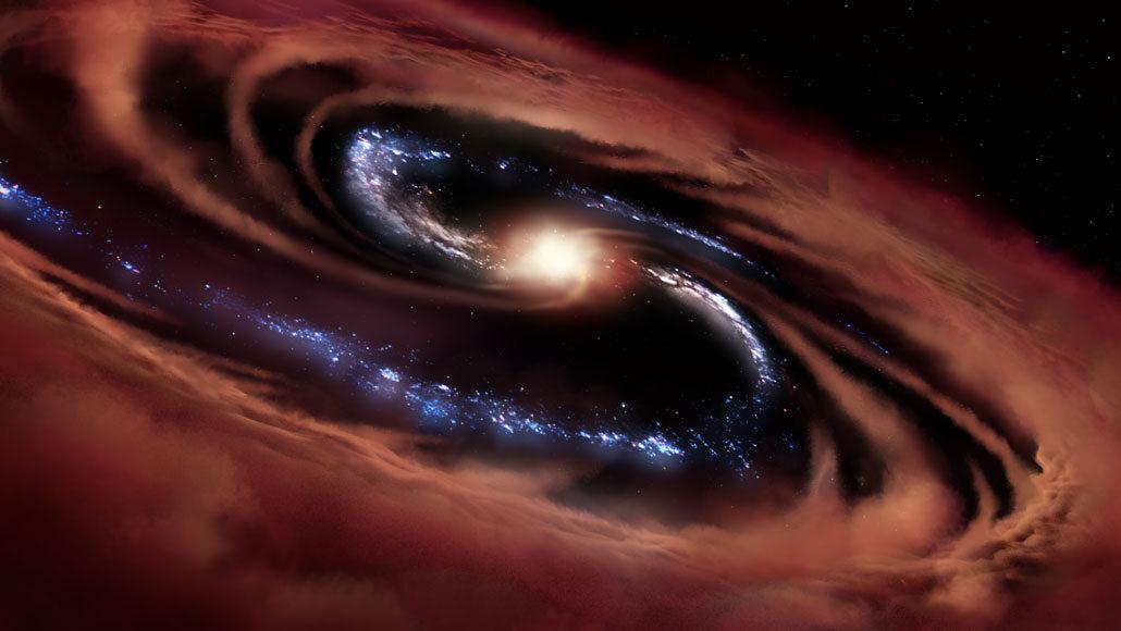cold quasar illustration