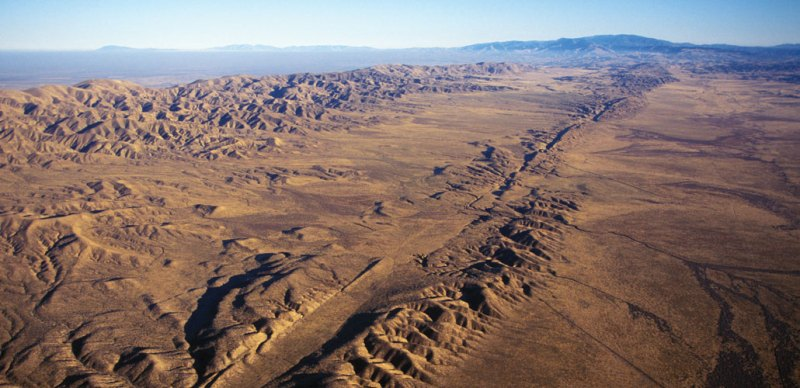 aerial photo of San Andreas Fault