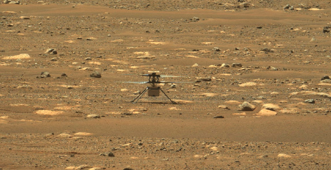 image of the Perseverance rover on Mars