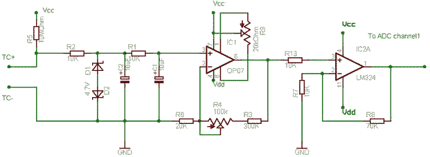 Simple Thermocouple Schematic Circuit Connection Diagram