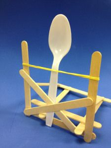 Simple Homemade Popsicle Stick Catapult For Kids Science Project Ideas