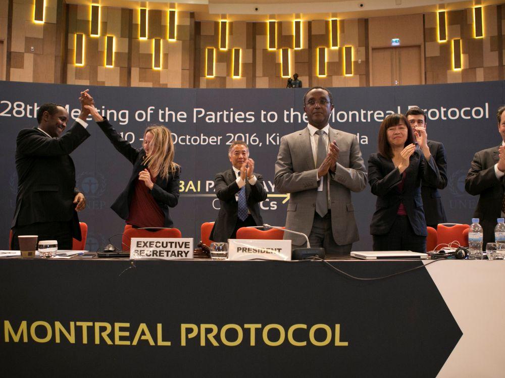 Signature de l'amendement de Kigali