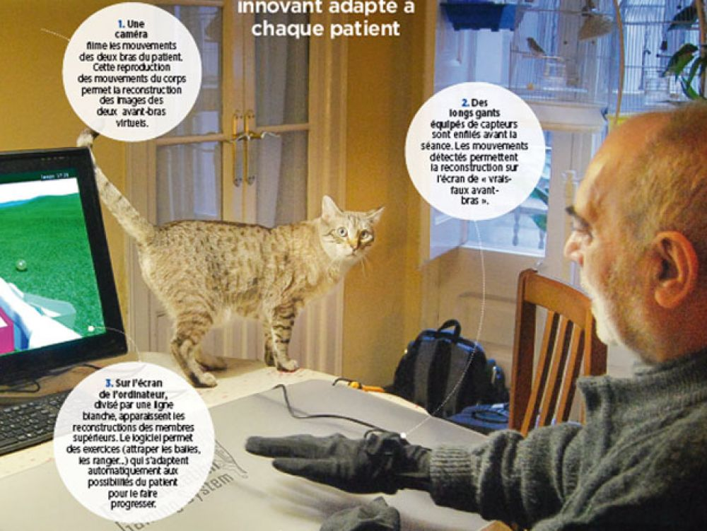 La ralit virtuelle aide  rcuprer dun accident vasculaire crbral  Sciencesetavenirfr