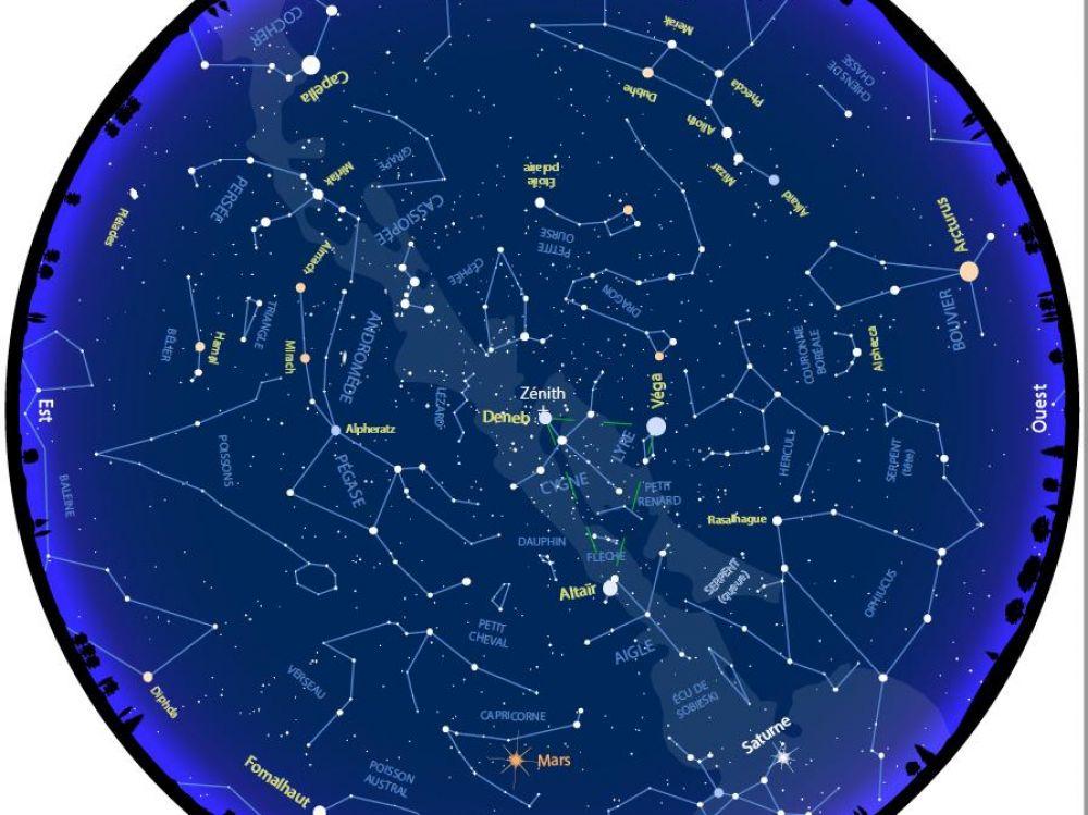 Dcouvrez la carte du ciel doctobre  Sciences et Avenir