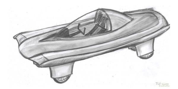 Het begint allemaal met schetsen... Afbeelding: via Tuecomotive.nl.