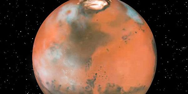 wolken op Mars