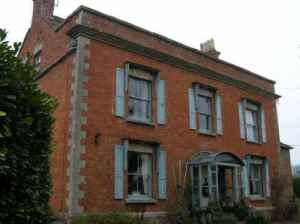 Het huis waar Harvey opgroeide: The Redlands in Minsterworth. Credit: FW Harvey Society
