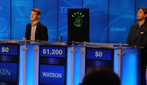 Watson in Jeopardy. Afbeelding: IBM.
