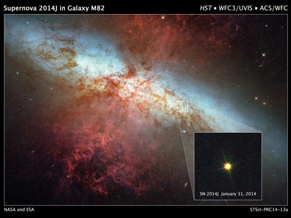 Afbeelding: NASA / ESA / A. Goobar (Stockholm University) / Hubble Heritage Team (STScI / AURA).