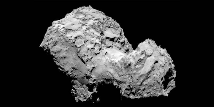 De komeet. Afbeelding: ESA.