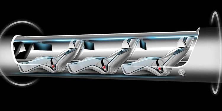 De capsule waarin passagiers plaats kunnen nemen. Afbeelding: SpaceX.