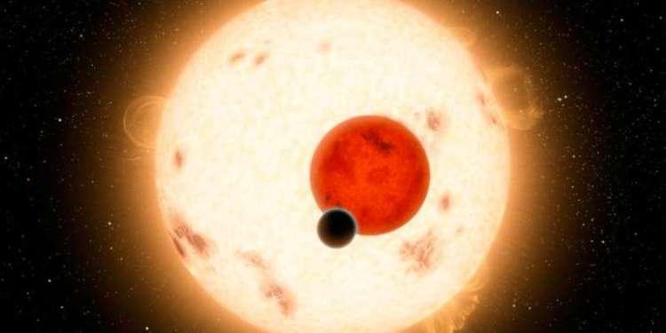 Een artistieke impressie van Kepler-16b: een gasplaneet die rond twee sterren cirkelt. Afbeelding: NASA / JPL-Caltech / R. Hurt.