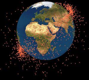 Een kaart waarop te zien is waar de fragmenten zich bevinden.