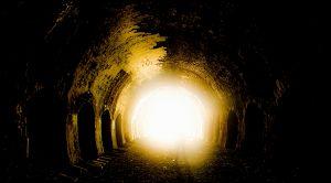 Ziet de tunnel van licht er zo uit?
