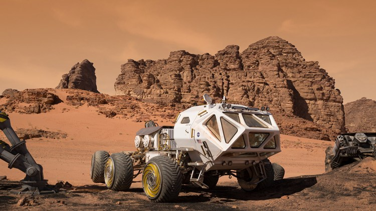 MAV, de terreinwagen in The Martian.