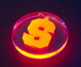 Gloeiende nanostaafjes