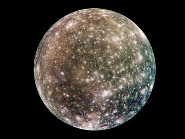 Callisto. Afbeelding: NASA / JPL / DLR (German Aerospace Center).