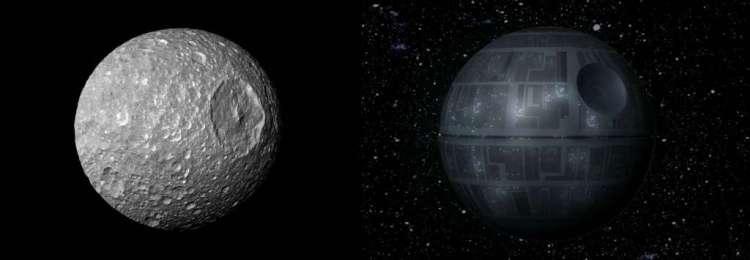 Zoek de verschillen. Afbeelding links: NASA / JPL / Space Science Institute.