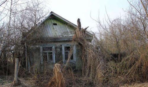Een verlaten huis in de omgeving van Tsjernobyl. Afbeelding: Elena Filatova.