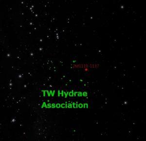 De solitaire exoplaneet hoort bij een groep jonge sterren, beter bekend als de TW Hydrae associatie.