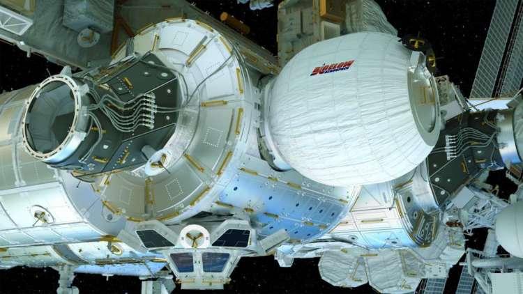 Zo ziet het er straks uit als de kamer is opgeblazen. Afbeelding: Bigelow Aerospace.