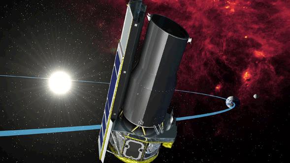 Ruimtetelescoop Spitzer. Afbeelding: NASA.